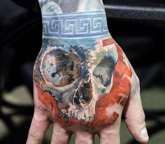 手背纹身   多款风格百变的手背纹身图案