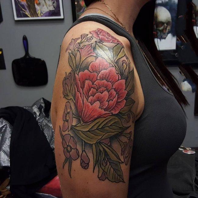 纹身图案花朵  娇艳欲滴的花朵纹身图案