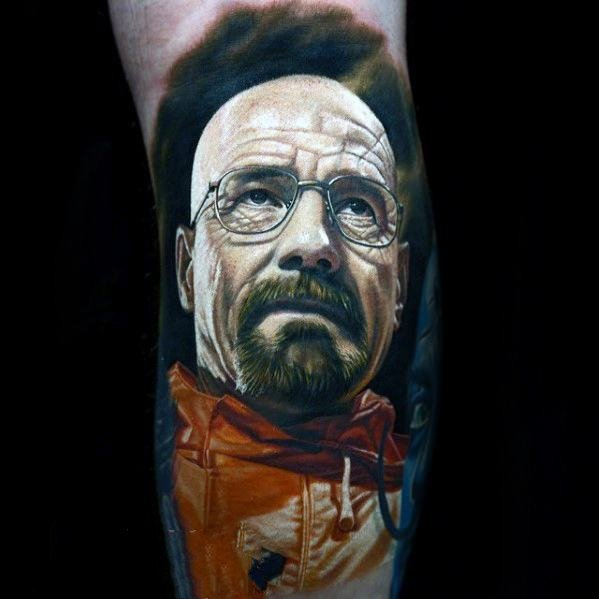 人物肖像纹身   神态严谨的人物肖像纹身图案