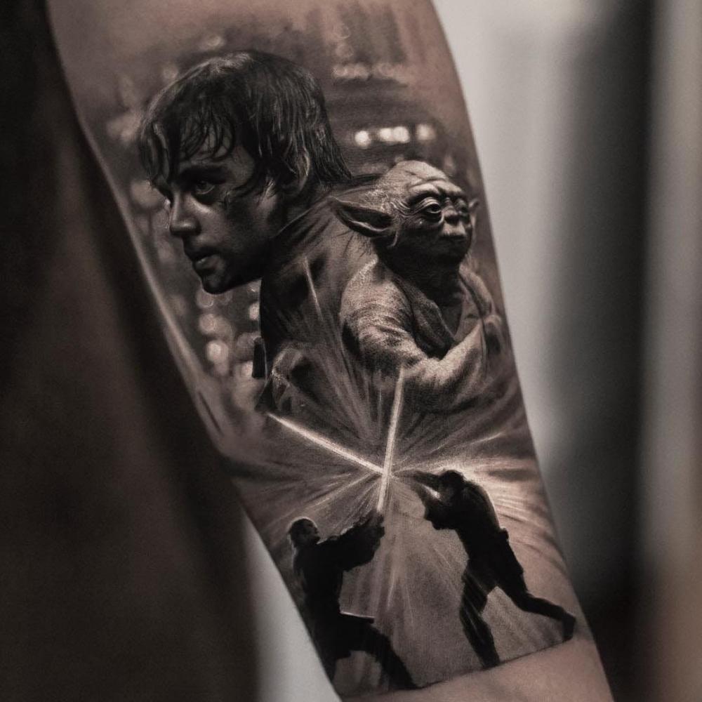 写实风格纹身   多款黑白灰风格和彩绘风格的写实风格纹身图案