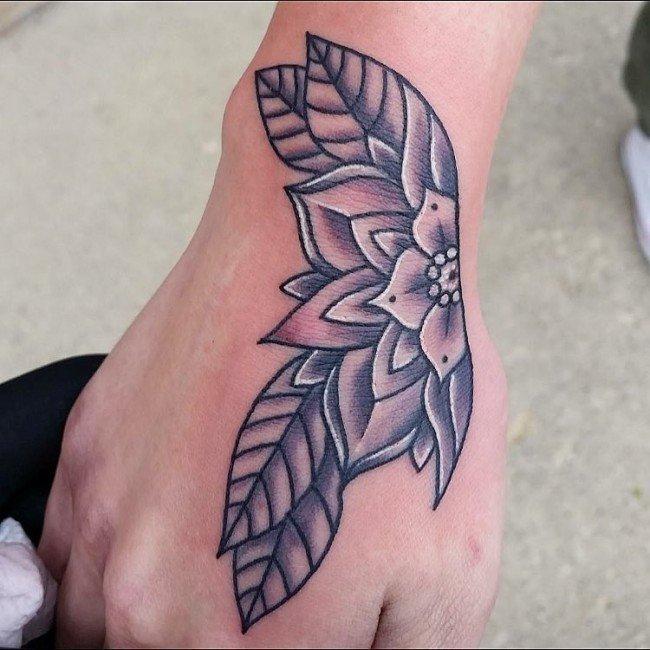 纹身植物图案  花香醉人的花朵纹身图案