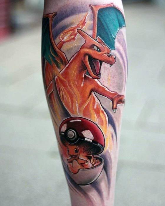 卡通纹身   格外有趣的精灵球纹身图案