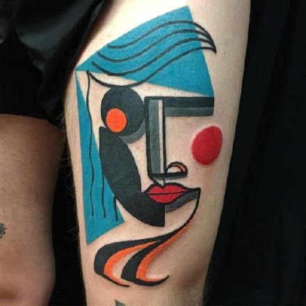 创意纹身图案-来自英国纹身师Mike Boyd一般不会撞图的纹身图片