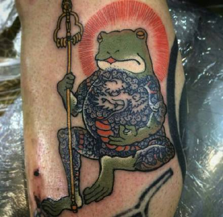 青蛙系列纹身图案-被赋予生命的青蛙纹身图片