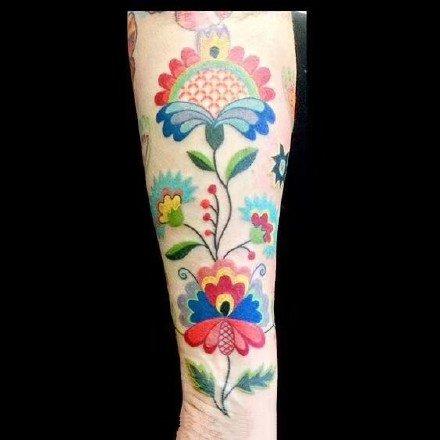 剪纸一样的纹身图案-有民族特色的纹身图片