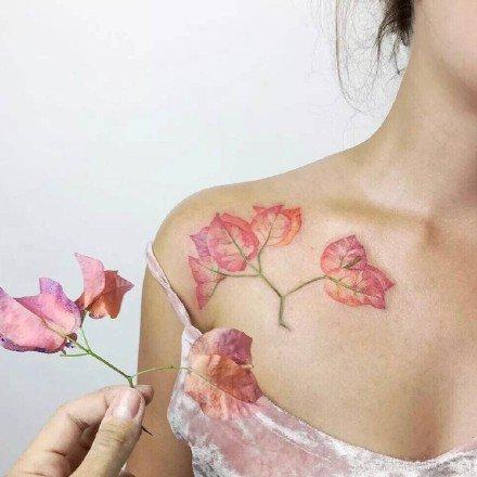 适合夏天的9款植物纹身小小清新素材图片