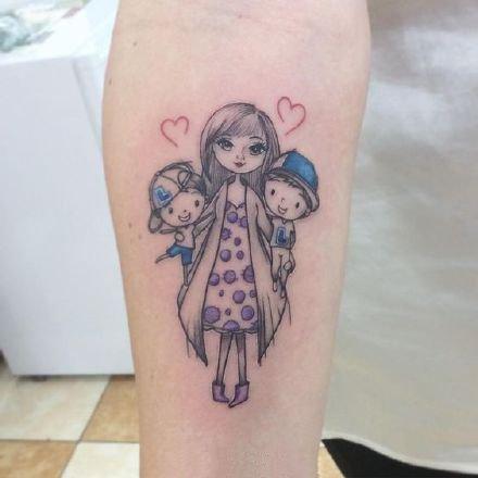 母爱纹身 表达母爱亲情的9款创意纹身图案