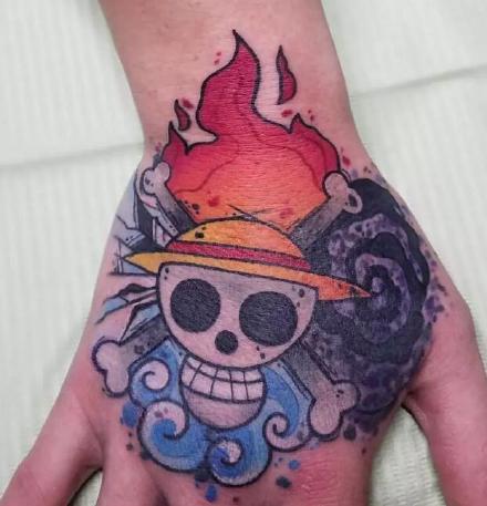 海贼王纹身-15款路飞索隆艾斯乔巴等动漫角色纹身图案
