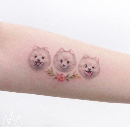 萌翻的的一组宠物小纹身图片