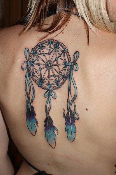 捕获美丽梦幻的一组捕梦网纹身图片9张