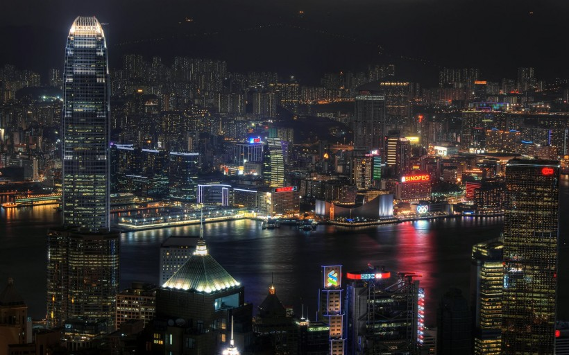 香港城市风景城市夜景图片(10张)