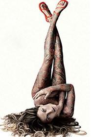 性感美国模特纹身人体艺术写真