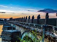 北京卢沟桥日出美景图片唯美壮观