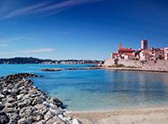 普罗旺斯小镇昂蒂布唯美意境海边风景图片