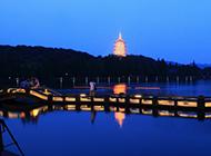 浙江杭州西湖夜景高清图片