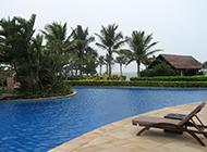 椰树挺空的海南博鳌风景秀丽图集