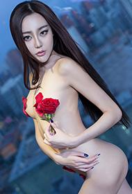 郭婉祈玫瑰诱惑高清人体艺术图片