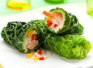 蔬菜海鲜创意寿司图片