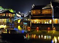 浙江乌镇美丽迷人夜景图片