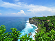 巴厘岛海岛风景清澈湛蓝