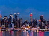 纽约帝国大厦迷人夜景素材