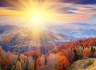 唯美的秋天山谷桌面高清壁纸