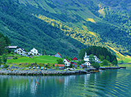 峡湾美景 挪威纳柔依峡湾风景赏析