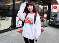 韩国人气网络红人恩典甜美时尚街拍