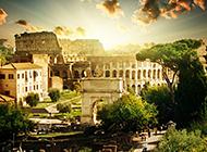 雄伟的罗马角斗场建筑图片