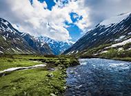 绿色大自然山水美景壁纸