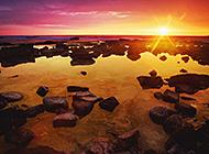 日出日落自然美景图片