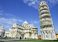 世界经典建筑作品比萨斜塔唯美图片