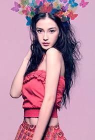 Angelababy甜美时尚长裙尽显浪漫风情组图