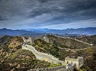 中国名胜古迹万里长城建筑图片