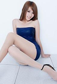 Aries蓝色制服肉丝袜写真