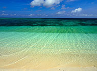 蓝色海洋沙滩海边风景图片背景素材