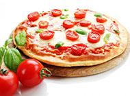 纯芝士披萨图片美味香浓