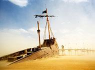 沉船残骸海景图片壁纸