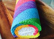 彩虹蛋糕卷图片美味诱惑