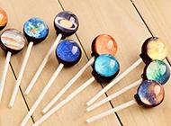 创意又甜蜜的星空棒棒糖图片