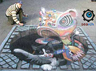 搞怪街头艺术图片之个性3d图