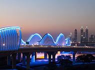 迪拜夜景仙境风景高清摄影图片