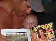 男生带孩子搞笑图片之爸爸这是什么