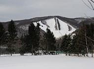 日本长野县志贺高原滑雪场素材