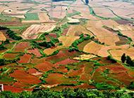优美的东川红土地壮丽山野图片