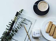面包咖啡小清新美食摄影