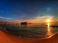 夕阳西下美丽风景壁纸