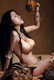 苏梓玲疯狂原始人极品人体艺术美女图片