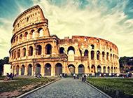 意大利名胜古迹罗马斗兽场古建筑图片