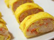 芙蓉蔬菜蛋卷创新美食小菜